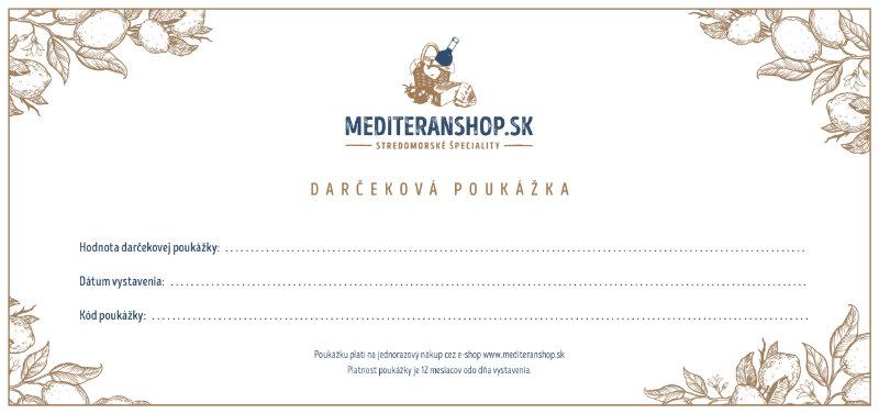 darčeková poukážka mediteranshop.sk